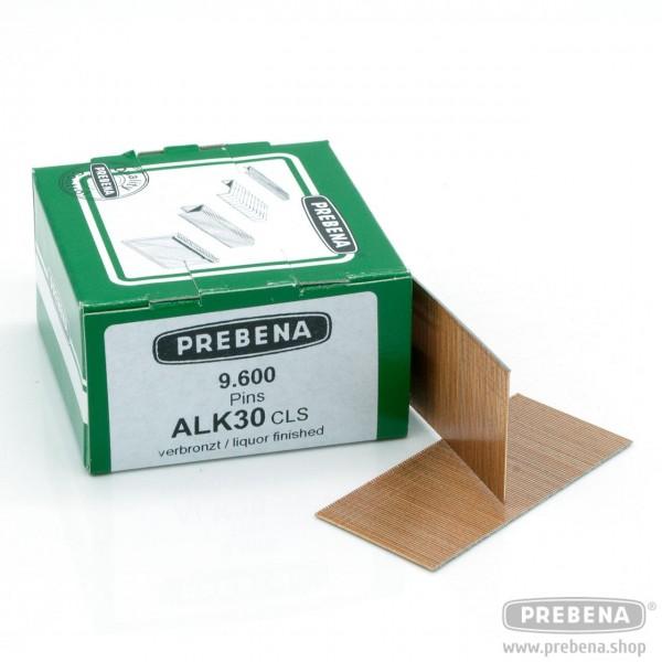 ALK30CLS Pins (Stifte mit Kopf) verbronzt 30mm Länge
