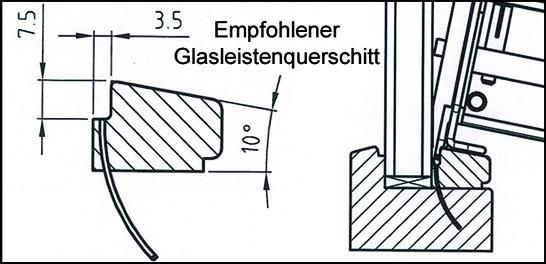 Glasleistenquerschnitt-STVN